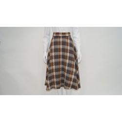 Falda de capa estampada
