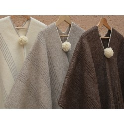 Poncho lana lisos adultos