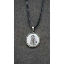 Medalla acero Virgen del Rocío