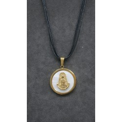 Medalla acero dorada