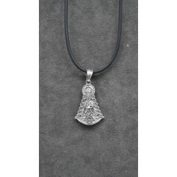 Medalla de acero silueta Virgen del Rocio