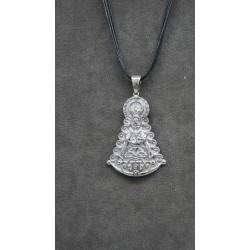 Medalla silueta grande Virgen del Rocio