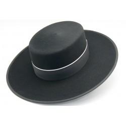 Sombrero lana color negro