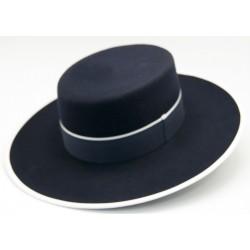 Sombrero de lana color marino
