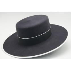 Sombrero de lana color marengo