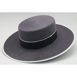 Sombrero de lana color uranio