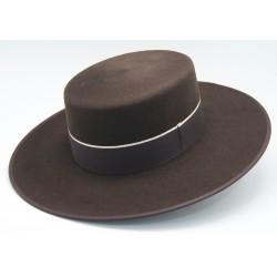 Sombrero de lana color marrón