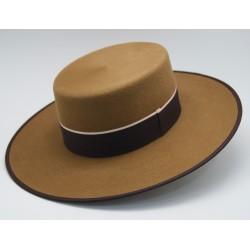 Sombrero de lana color camel