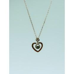 Gargantilla plata corazon