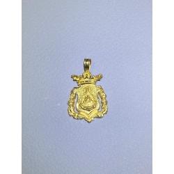 Medalla hermandad de Triana oro de ley 18 kts