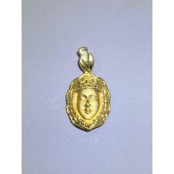 Medalla Rostrillo v.del Rocío oro de ley 18 klts