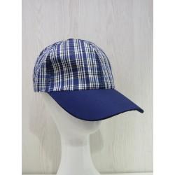 Gorra béisbol cuadros azul