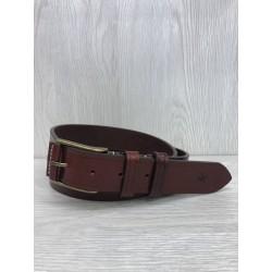 Cinturón piel Vaquetilla cereza