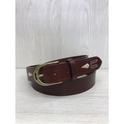 Cinturon hebilla estribo marrón