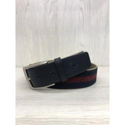 Cinturón lona bicolor