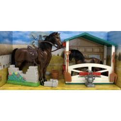 Estuche con dos caballos