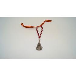 Medalla de coche burdeos