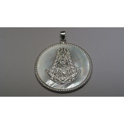 Medalla redonda nacar